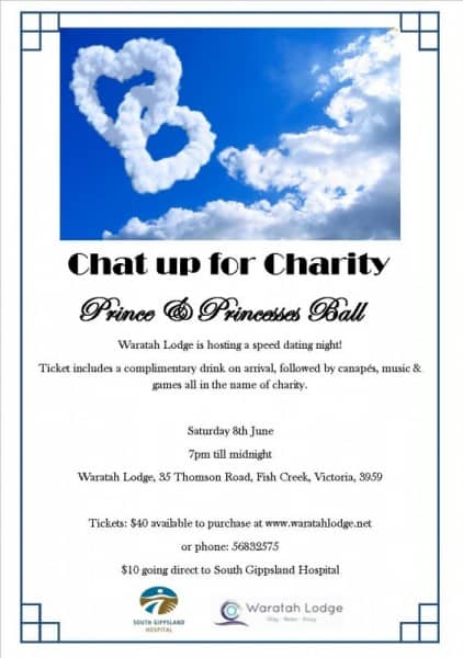 Chat up for charity