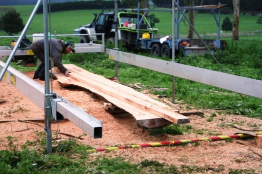 On-site timber milling