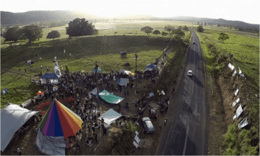 The Bentley blockade which is campaigning against Metgasco's gas exploration in the Northern Rivers district of New South Wales. Photograph: David Lowe