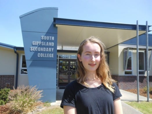• Chloe Wood is the top student among an impressive group of high achieving VCE students in South Gippsland Secondary College's Class of 2015.