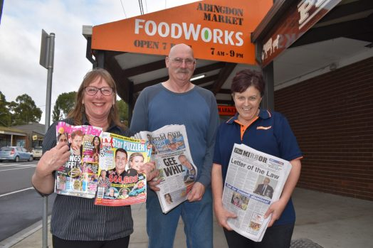 Foster Newsagency staff are preparing to move across the road to the FoodWorks supermarket